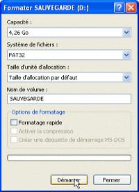 formatage DVD-RAM