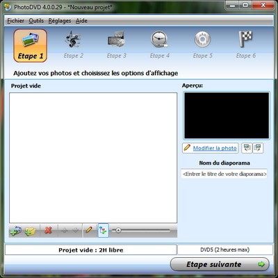 interface PhotoDVD