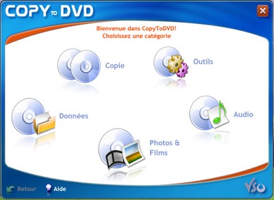 interface copytodvd