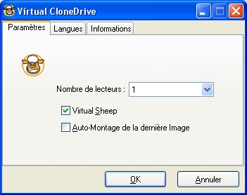 capture écran Virtual CloneDrive