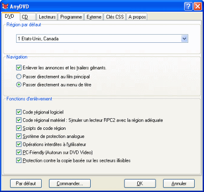 capture écran AnyDVD & AnyDVD HD