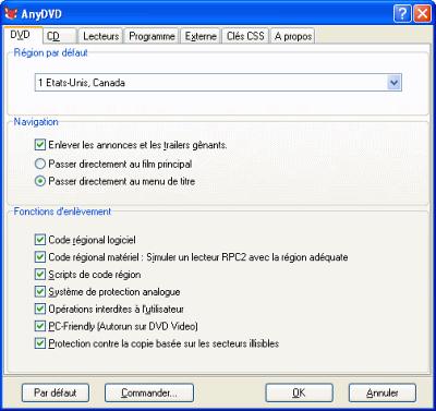 capture écran AnyDVD & AnyDVD HD