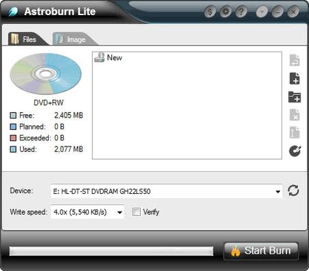 capture écran Astroburn Lite