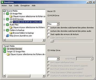 capture écran BurnDrive
