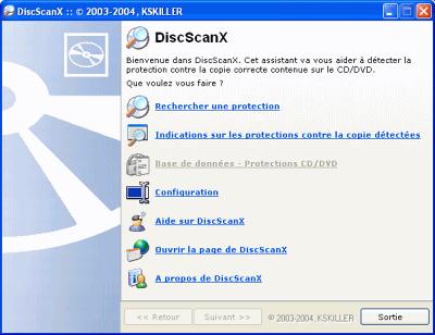 capture écran DiscScanX