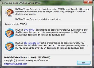 capture écran DVDFab Virtual Drive