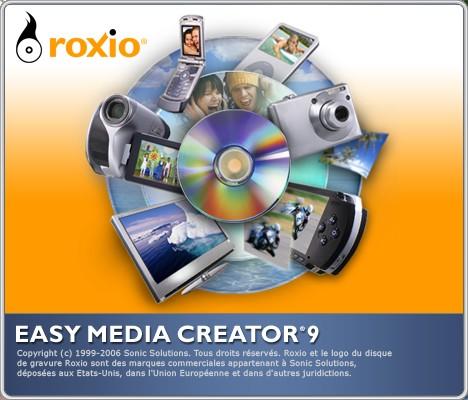 capture écran Easy Media Creator