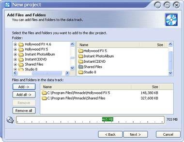 capture écran InstantCD/DVD