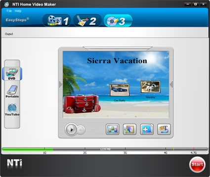 capture écran NTI Media Maker Express